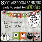 Bunch O'Banners - Fall, Harvest, Halloween, & Thanksgiving