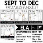 Bundle 1 - Common Core Crunch September to December - ELA