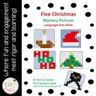 Bundle of Five Christmas Mystery Pictures Language Arts Skills