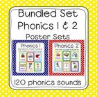 Bundled Phonics 1 & 2 Sounds Poster Set (120 sounds - polk