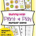 Bunny Hop - Math Center Game for Numeral Identification