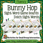 Bunny Hop Sight Word Game Boards