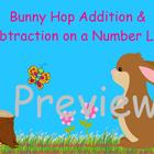 Bunny Hop on  Number Line for ActivBoard
