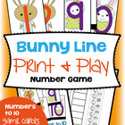 Bunny Line - Print and Play Math Game / Center