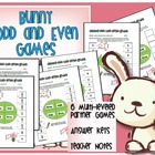 Bunny Odd/Even Math Games with Answer Keys