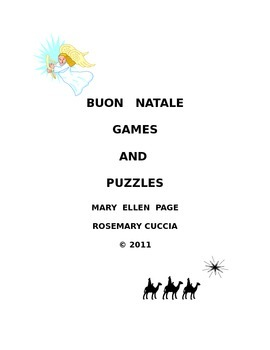 Buon Natale Christmas Games and Puzzles