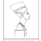 Bust of Queen Nefertete.  Coloring page and lesson plan ideas