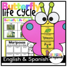 Butterfly Life Cycle {Craft and Printables in English and