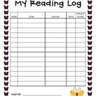 Butterfly Theme Reading Log