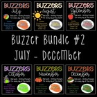 Buzzer Bundle Packet #2 (Bell Work-Journal) July to December