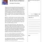 By the Waters of Babylon Handout aligned with Common Core