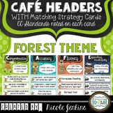 CAFE Headers and Strategy Cards 1st Grade Forest Theme