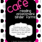 CAFE reading assessment forms {editable!}