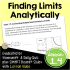 CALCULUS LIMITS UNIT LESSON 2: Finding Limits Analytically