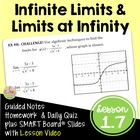 CALCULUS LIMITS UNIT LESSON 5: Infinite Limits