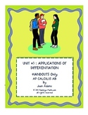 CALCULUS UNIT 3: APPLICATIONS OF DIFFERENTIATION STUDENT N