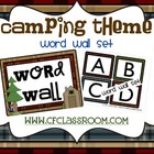 CAMPING THEME WORD WALL SET-classroom theme {printables)