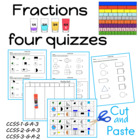CCGPS First Grade Fractions Quizes