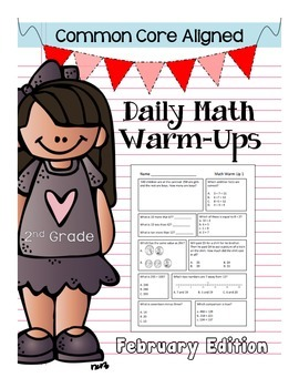 CCSS Daily Math Warm Ups - 2nd Grade February