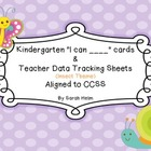 "Kindergarten ""I can ___"" cards + Teacher Data Tracking She"