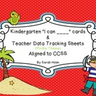"Kindergarten ""I can ___"" statement cards + Teacher Data Sh"