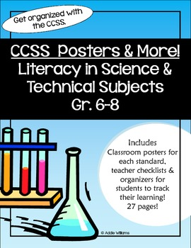 CCSS - READING for Literacy in Science /Technical Subjects Gr 6-8