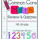 CCSS Math 4th Grade Numbers & Operations - Fractions Revie