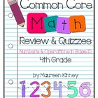 CCSS Math 4th Grade Numbers & Operations in Base 10 Review