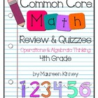 CCSS Math 4th Grade Operations & Algebraic Thinking Review