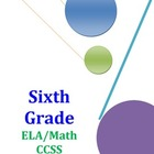 Sixth Grade ELA and Math CCSS Checklist