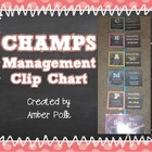 CHAMPS Management Clip Chart {Editable Freebie}