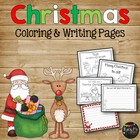 CHRISTMAS Coloring Sheets Color Pages Santa, Reindeer, Elv