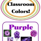 COLORS Poster/Bulletin Board SET of 11 - ILLUSTRATED