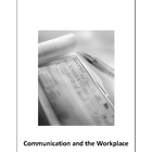 COMMUNICATION and the Workplace Unit of work