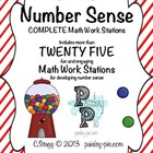 MATH STATIONS: Number Sense- 25+ Stations, Differentiated
