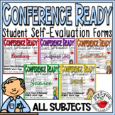 CONFERENCES - 7 forms for students self-eval of performance (PDF)