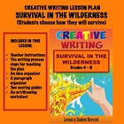 CREATIVE WRITING LESSON PLAN #29  Survival in the Wilderness