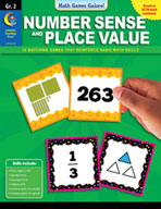 Math Games Galore: Number Sense and Place Value (Grade 2)