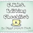 Writing: C.U.P.S. Editing Checklist