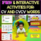 CV & CVCV Words With Pre-K Concepts