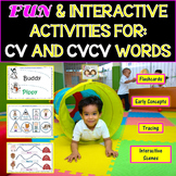 Speech Therapy: CV & CVCV Words With Pre-K Concepts
