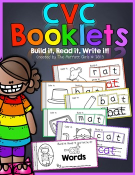 CVC Booklets (Build it, Read it, Write it)!