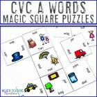 "CVC ""Medial A"" Words Magic Square Puzzles"