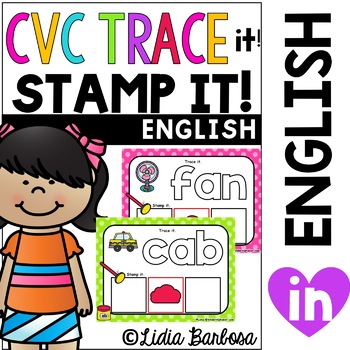 CVC Playdough Trace & Stamp Mats
