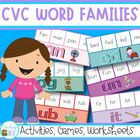 CVC Word Families - activities, games and worksheets