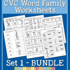 CVC Word Family Workbook Volume 1