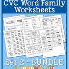 CVC Word Family Workbook Volume 2