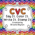 CVC Words - Color, Write and Stamp