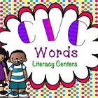 CVC Words Literacy Center Mega Packet