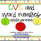 CVC and Word Family Activities: Apple Theme